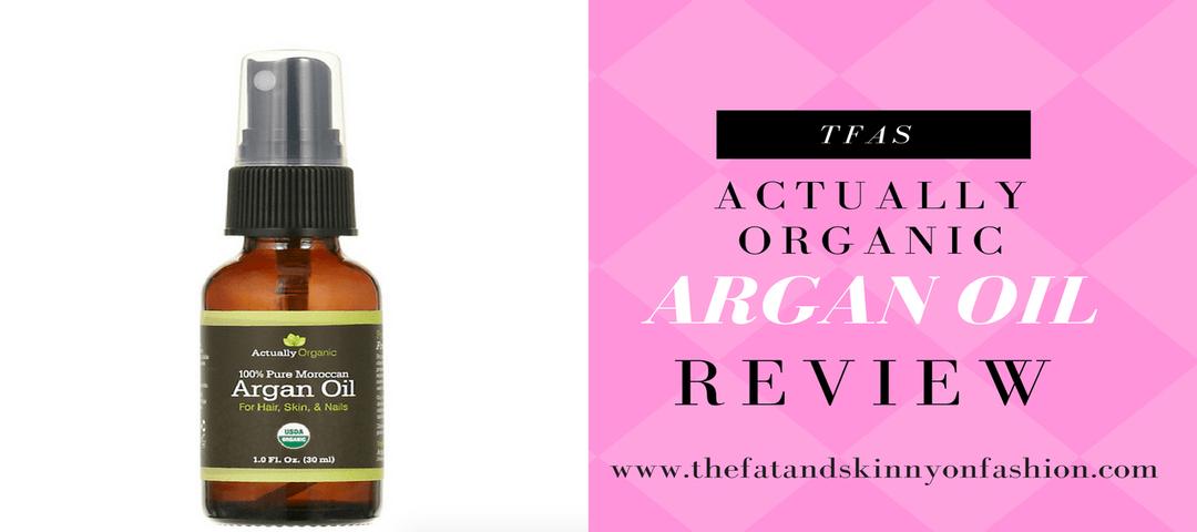 Beauty Bit- Actually Organic Argan Oil Review