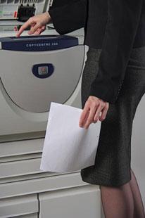 Making copies of paperwork