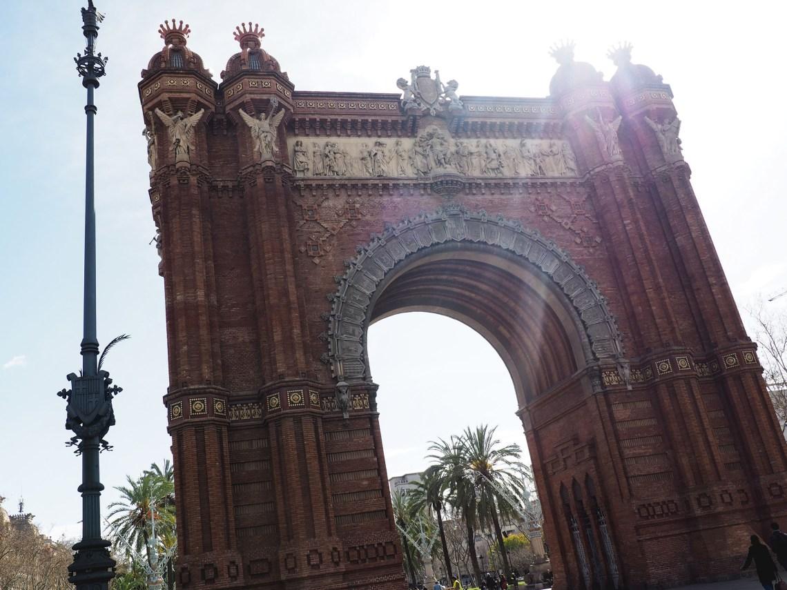 February in barcelona