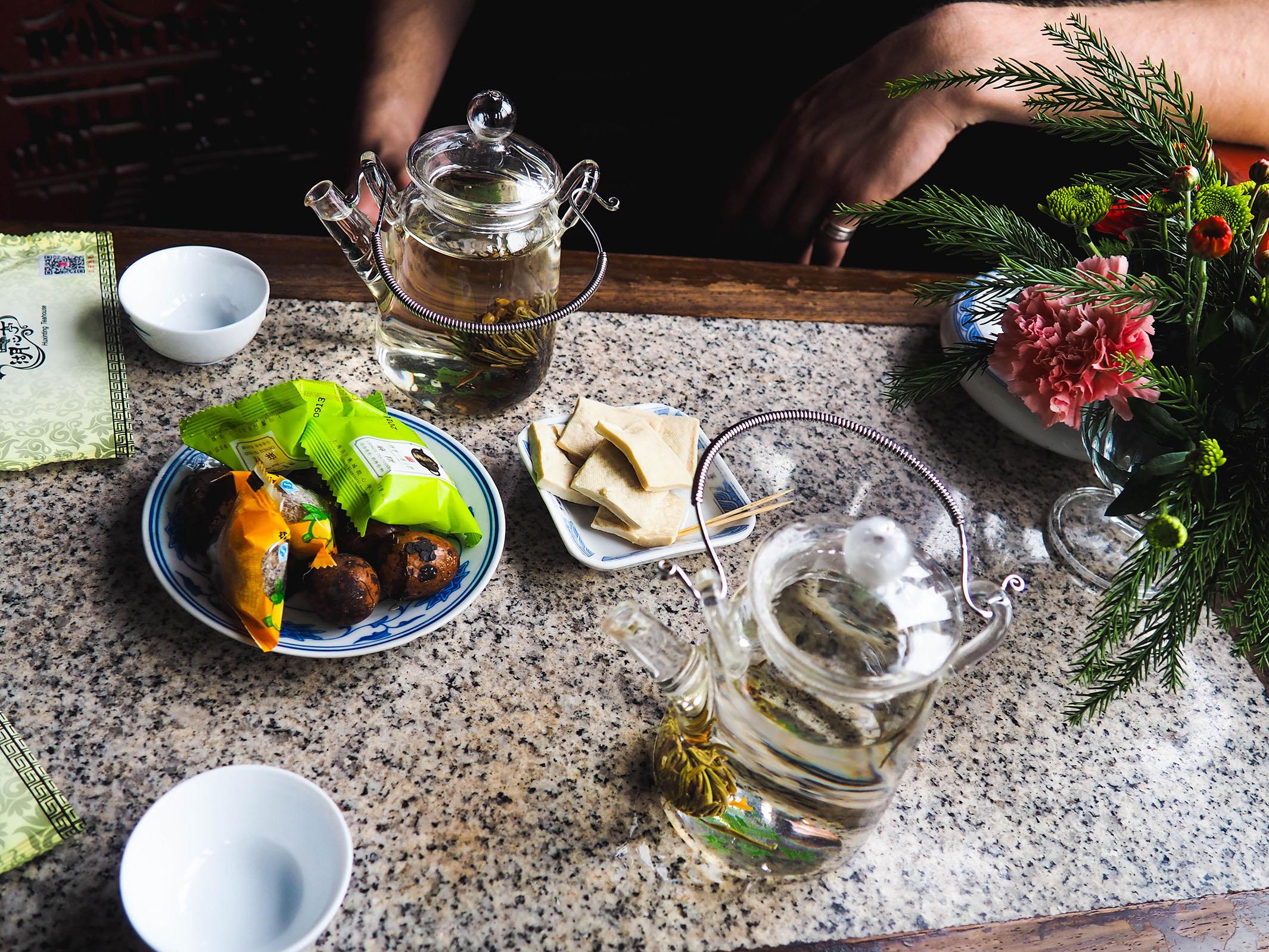 a yu garden tea experience
