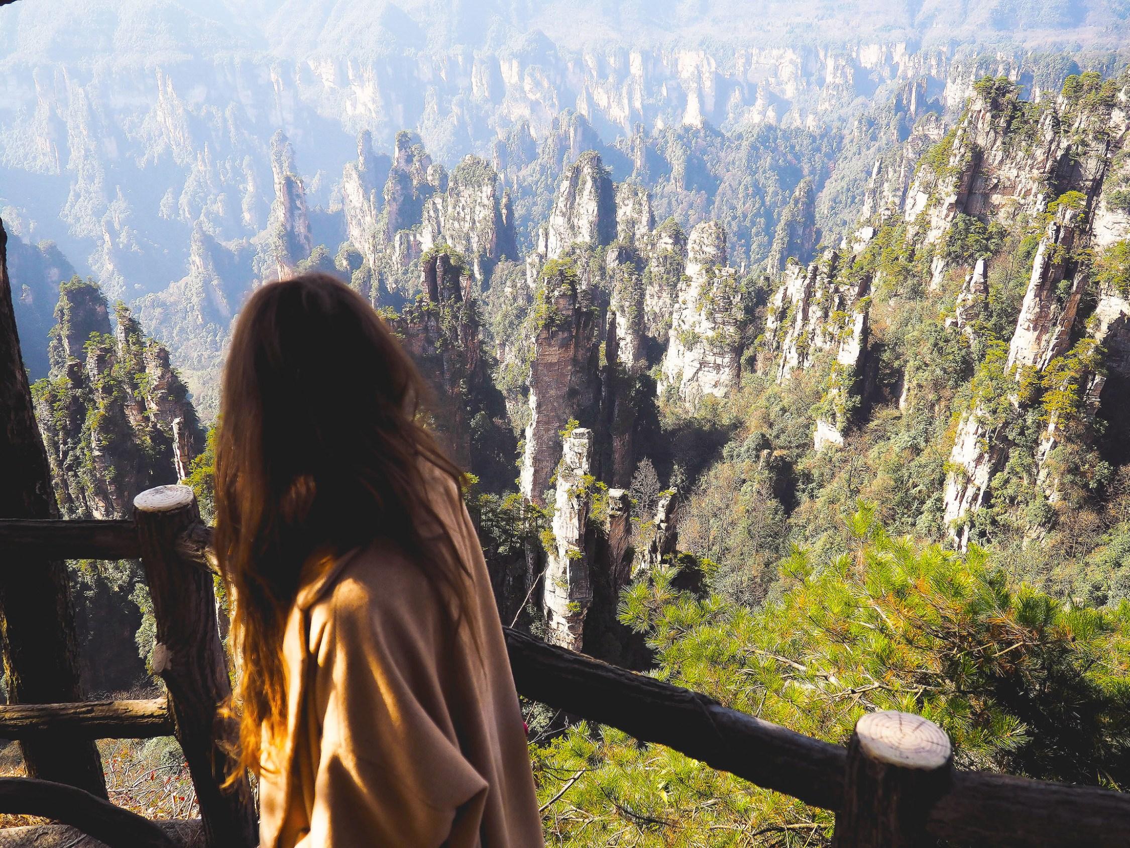 exploring the avatar mountains in zhanjiajie