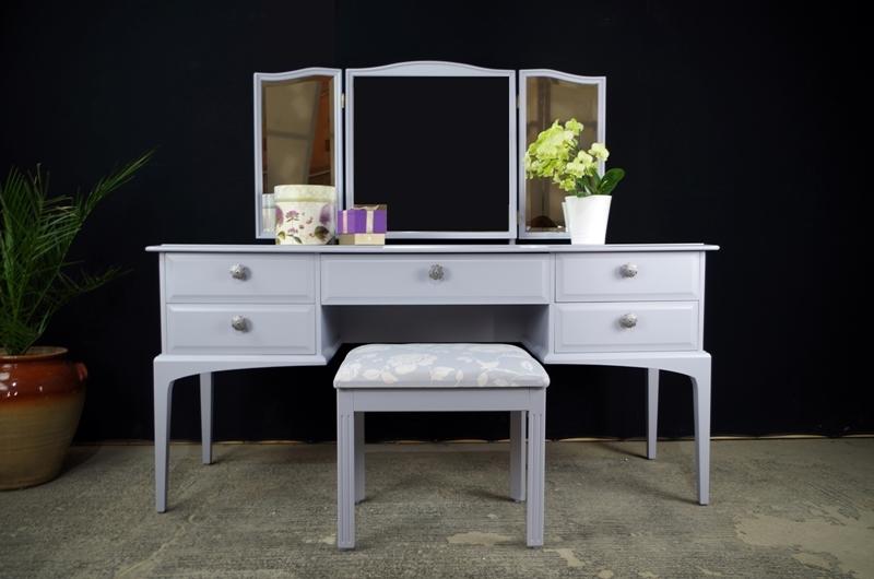Grey Fabric Coffee Table
