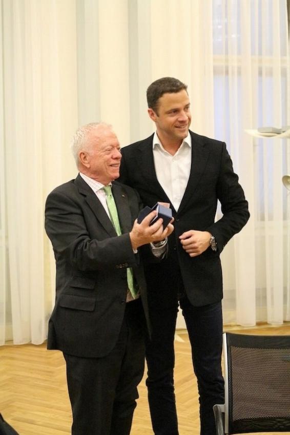 Volker Stein zu Besuch beim Vizebürgermeister der Stadt Wien Johann Graf Gudenus