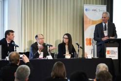 A World Resources Forum keynote panel (L-R): (l to r): Dr Alex Wonhas (CSIRO), Prof Masamichi Yoshimura (Toyota Technological Institute), Janet Salem (UNEP), Prof Stuart White (ISF).