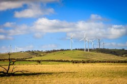 Challicum Hills Wind Farm in Victoria.
