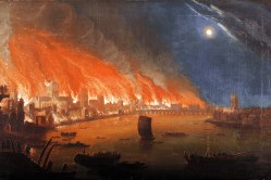 A painting of the Great Fire of London. Now 350 years later, we still see construction above three storeys as risky.