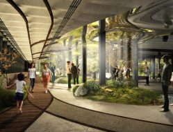 Concept drawing for world's first underground park in New York
