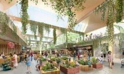 Artist's impression of Frasers' Burwood Brickworks retail centre, aiming for Living Building Challenge certification