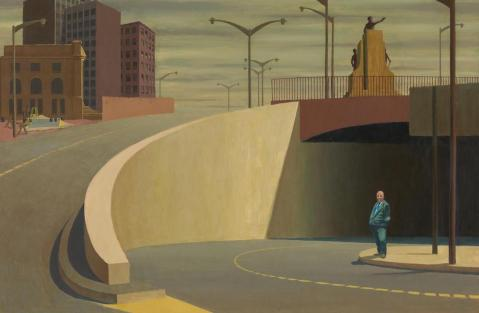 Cahill Expressway by Jeffrey Smart