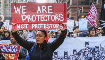 protesters against a Dakota pipeline