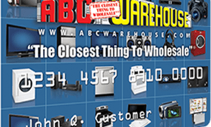 ABC Warehouse Credit Card login