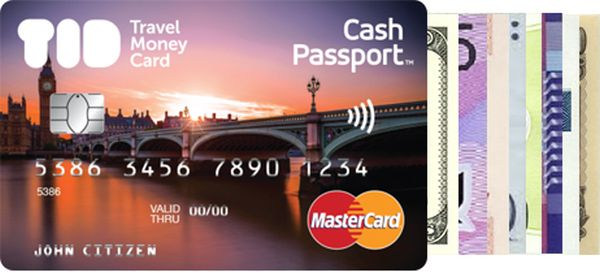 Travel Money Cash Passport Card