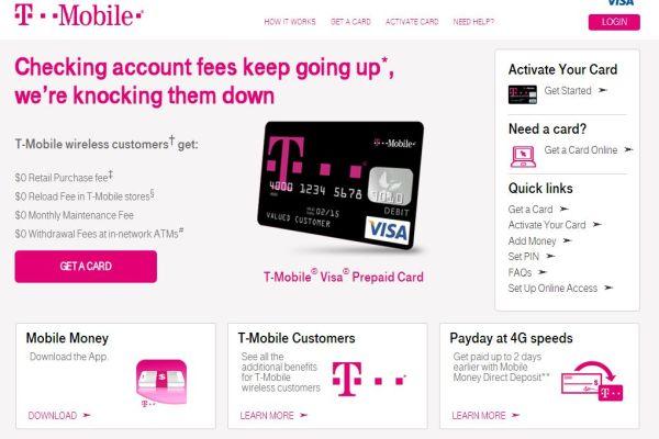 T-mobile Value Visa Prepaid Card