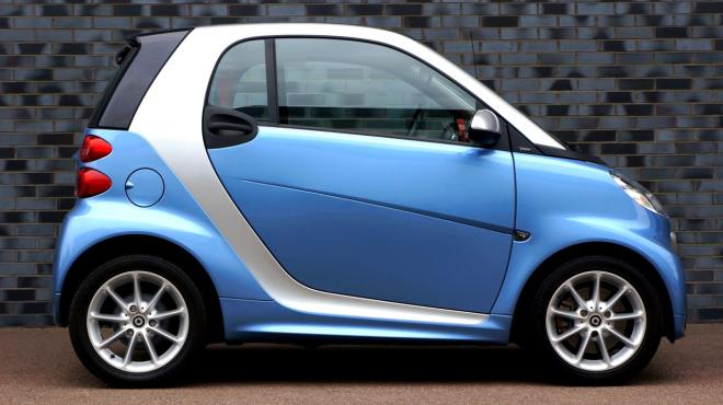 5 Sneaky Ideas For Cutting Car Insurance Costs - blue Smart car image