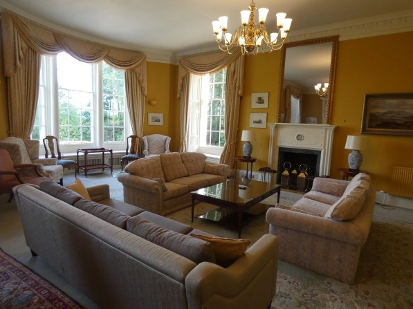 The drawing room at Blervie House