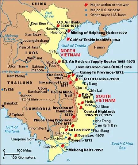 Map of Vietnam War