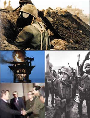 Iran-Iraq War Montage. Via Wikimedia Commons