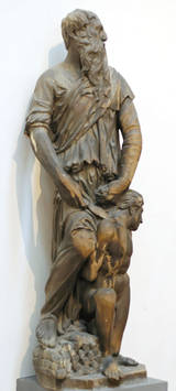 Sculpture of Abraham about to sacrifice Isaac by Donatello