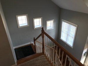 Before wainscoting stairs in Foxcreek Midlothian