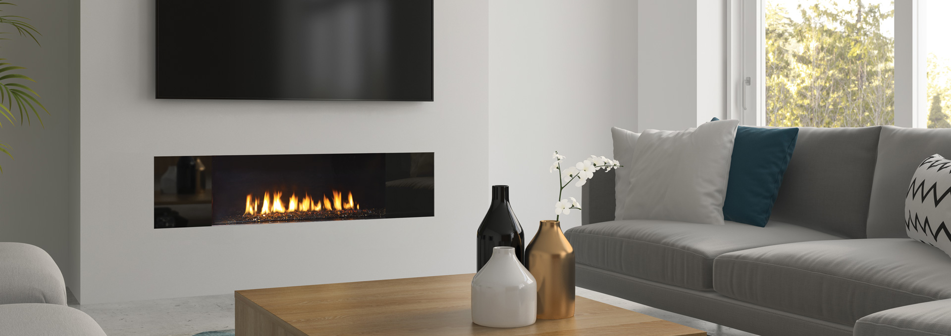Regency Gas Fireplace City Series New York View 40 And