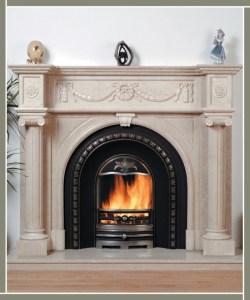 Roman Arch Fireplace