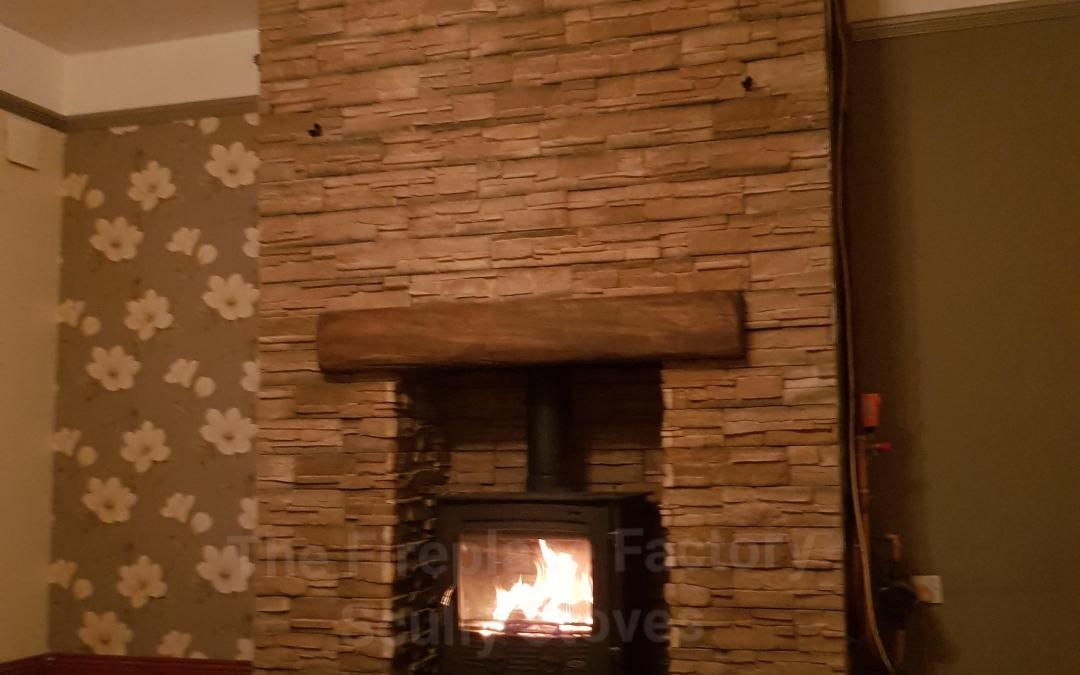 Henley Druid boiler stove with Alverno cladding