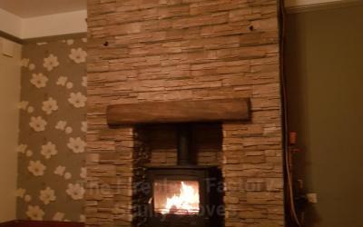 Henley Druid boiler stove with Alverno cladding