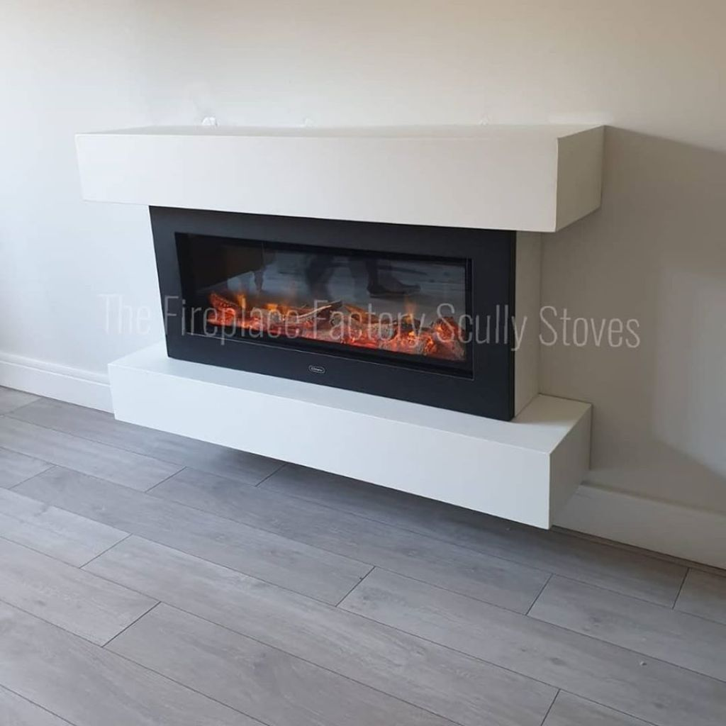 Dimplex Electric Fire in a custom made unit
