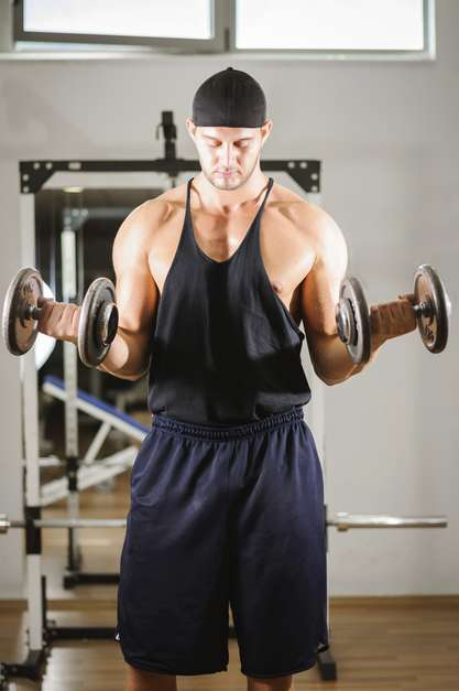 arms workout with dumbbells