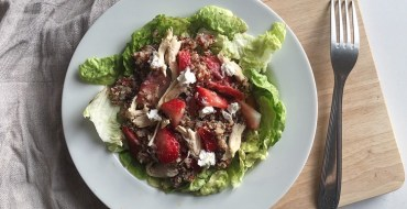 salade quinoa chèvre fraise