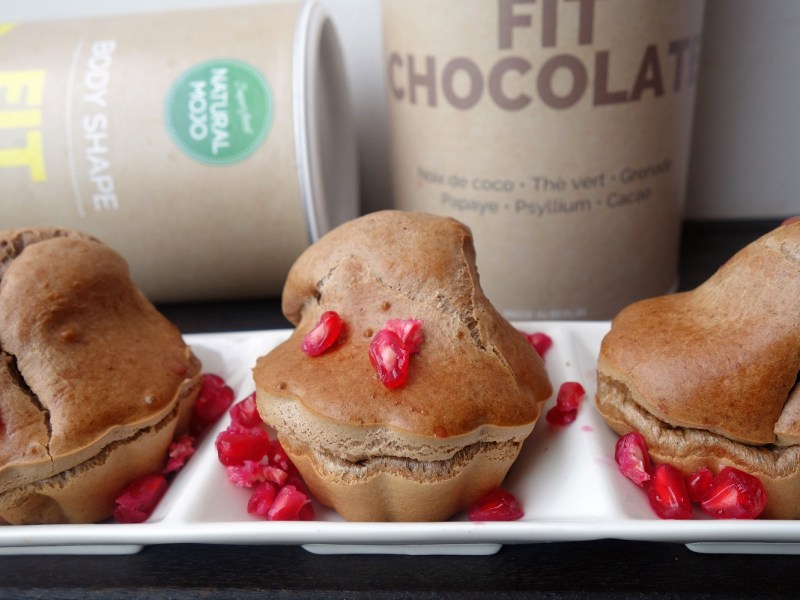 muffins protéinés fit banana fit chocolate natural mojo