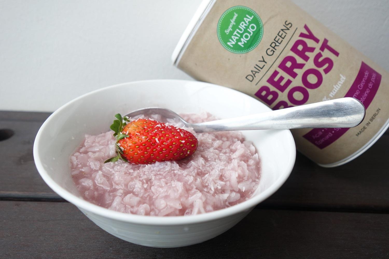 riz au lait berry boost natural mojo thefitnesstheory