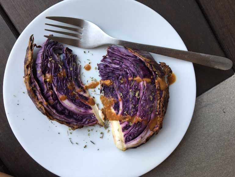 chou rouge roti vinaigrette légumes faciles