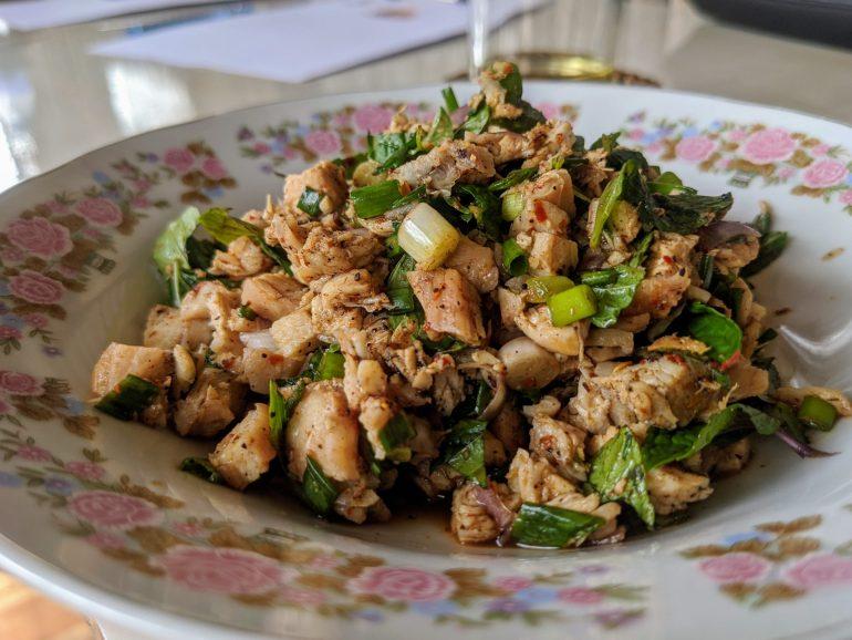 laap de poulet recette laotienne light