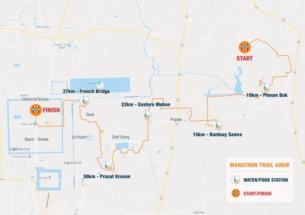 map marathon run angkor 2020 UTA