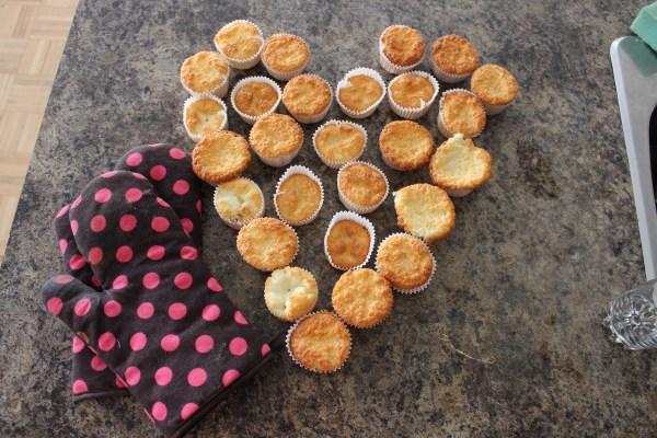 angel food cake muffins