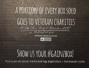 gain[z] box, gym addict gain[z] box, crossfit subscription box, functional fitness monthly box, veteran business