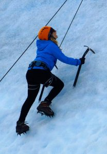 Ice Climbing on Glacier Grey
