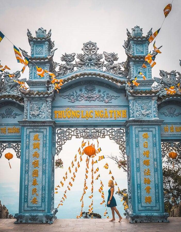 golden bridge ba na hills vietnam french village