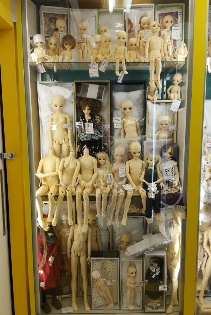 A terrifying shop where dolls are built from scratch and every body part is laid out for inspection
