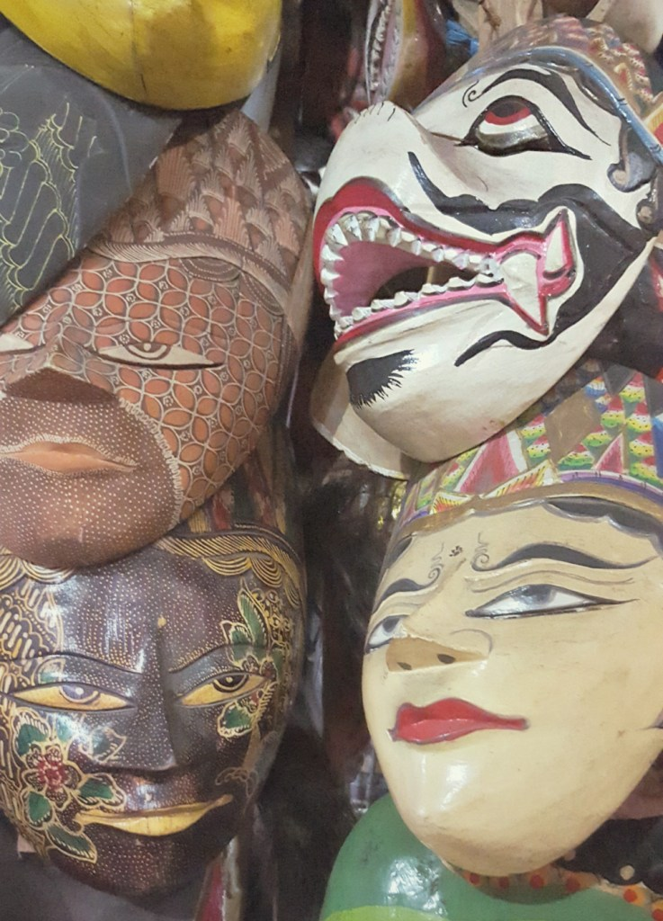 A selection of Indonesian masks