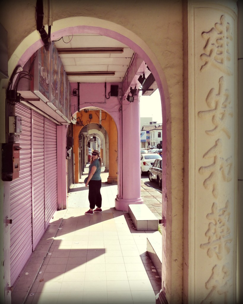 Call this place boring??! They paint their external walls pink and have Chinese names embossed on the pillars!