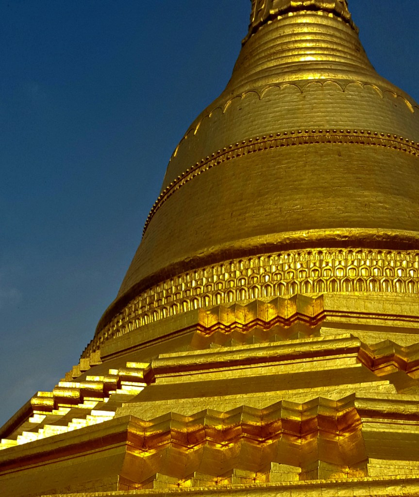 Our first close encounter with a stupa (there were many, many more to come)