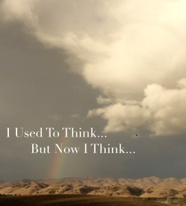used to think