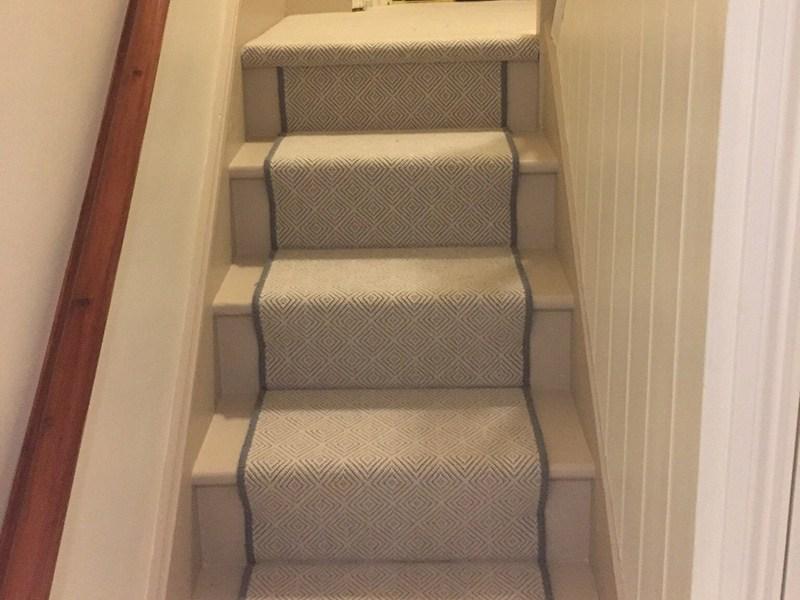 Stairs Grey Herringbone Carpet The Flooring Group   Grey Herringbone Carpet Stairs   Living Room   Flat Weave   Hartley   Patterned   Modern