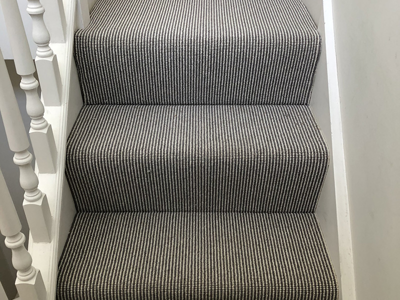Stair Carpet Installed In Belgravia The Flooring Group
