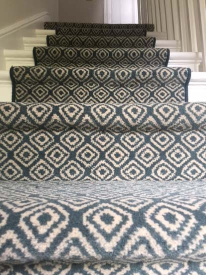 Stairs The Flooring Group | Quirky Carpets For Stairs | Designed | Statement | Popular | Flower Patterned | Flowery