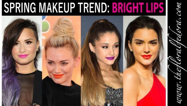 Spring Makeup Trend: Bright Lips