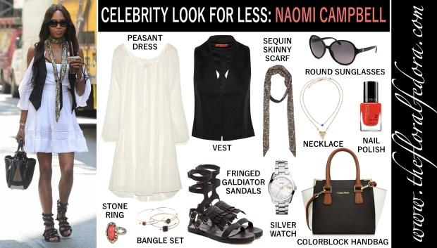 Celebrity Look for Less: Naomi Campbell