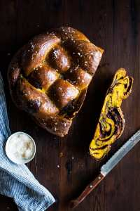 {vegan} Salted Chocolate Pecan Pumpkin Babkallah | The Floured Kitchen